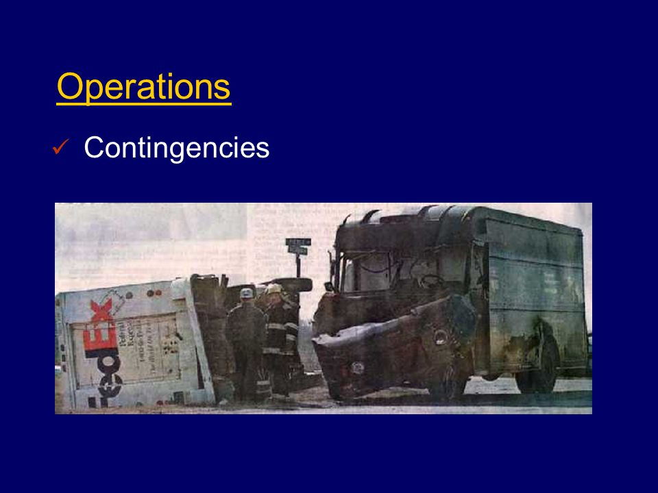 Operations Contingencies