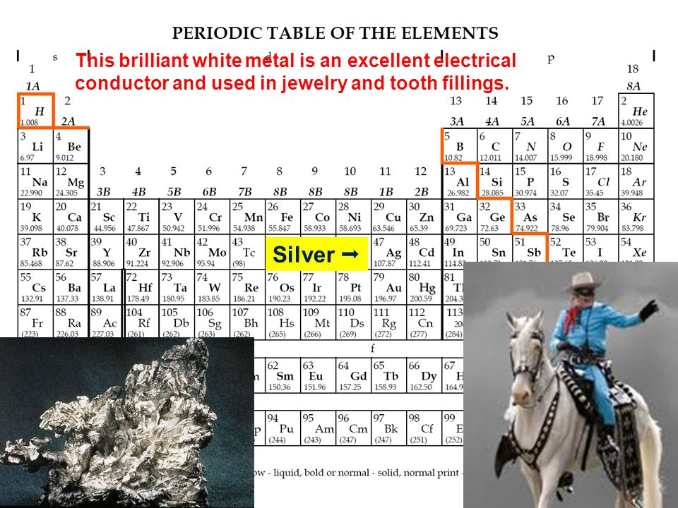 This brilliant white metal is an excellent electrical conductor and used in jewelry and tooth fillings.