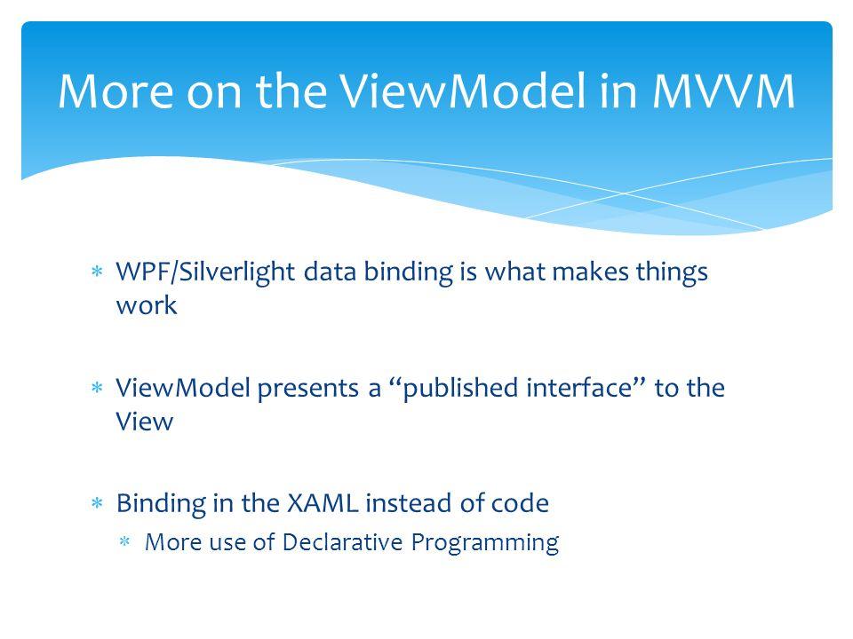 MVVM Overview Frank Shoemaker MindCrafted Systems - ppt download