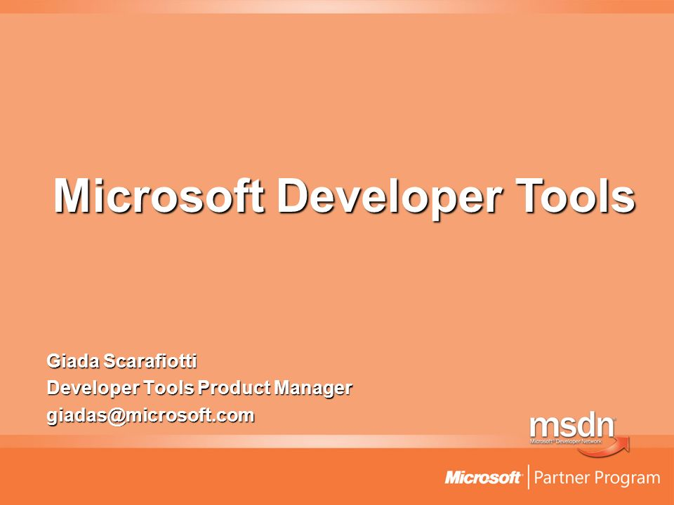 Giada Scarafiotti Developer Tools Product Manager Microsoft Developer Tools