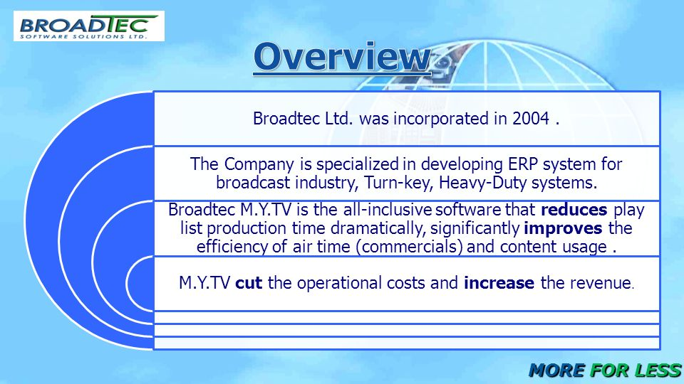 Broadtec Ltd. was incorporated in