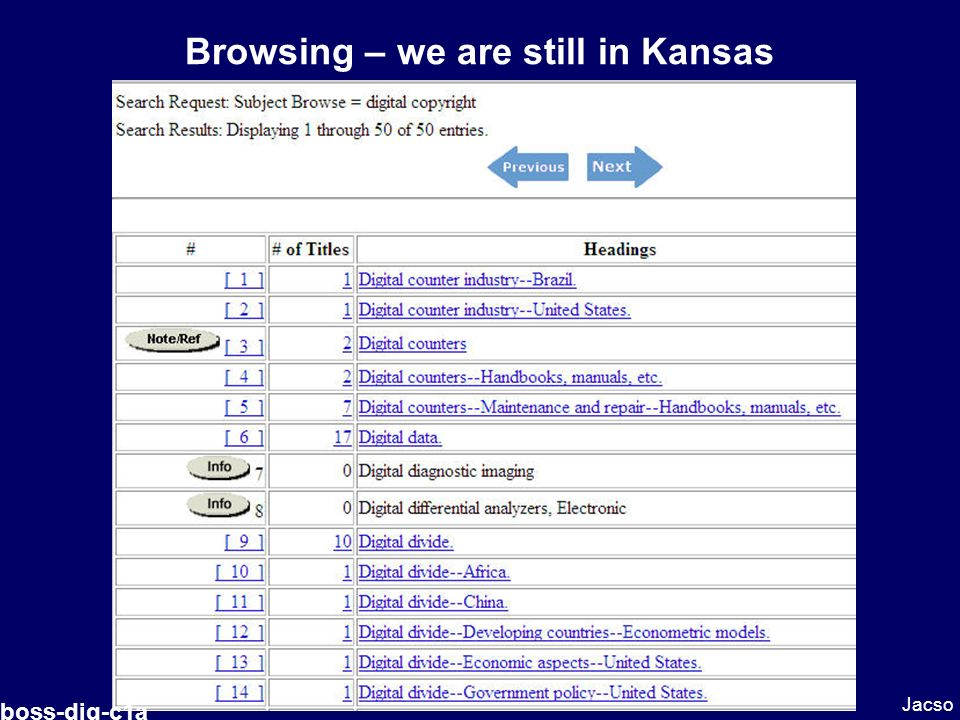 Browsing – we are still in Kansas Jacso boss-dig-c1a