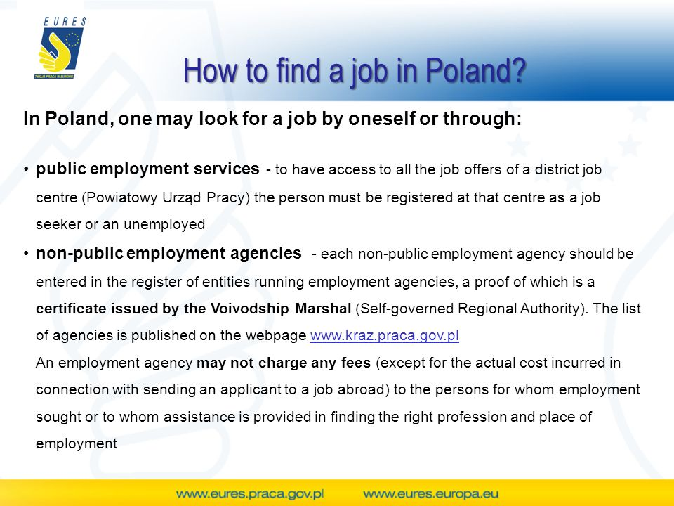 How to find a job in Poland.
