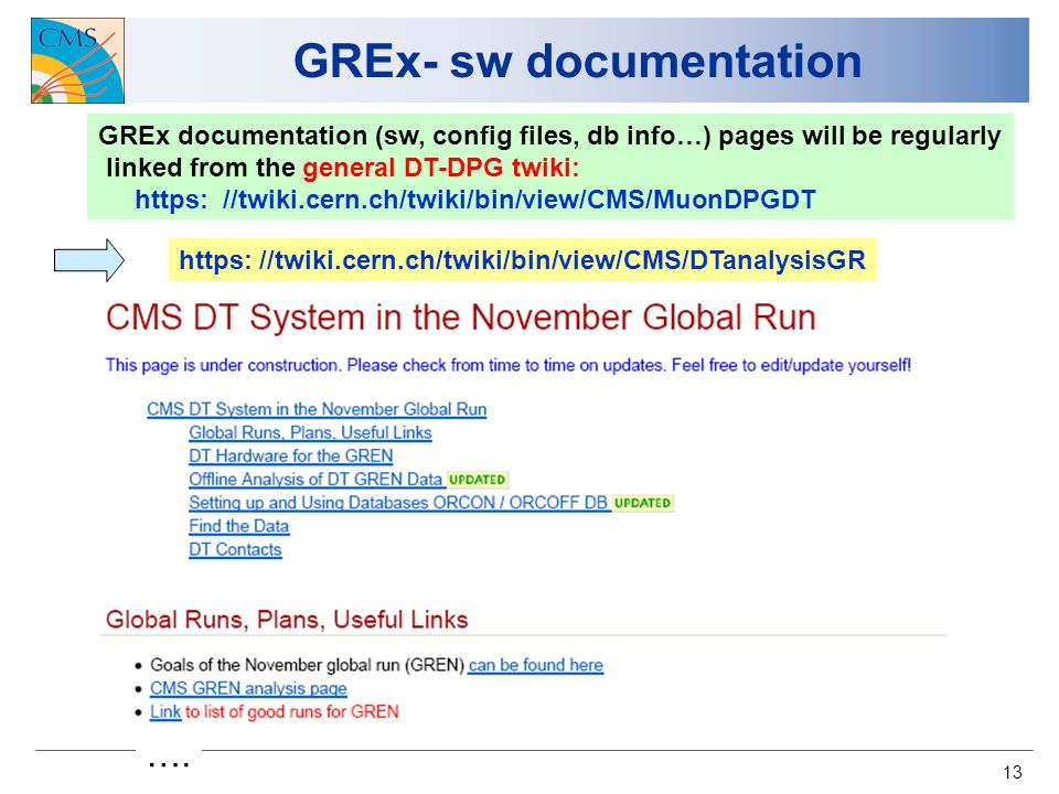 13 GREx- sw documentation ….