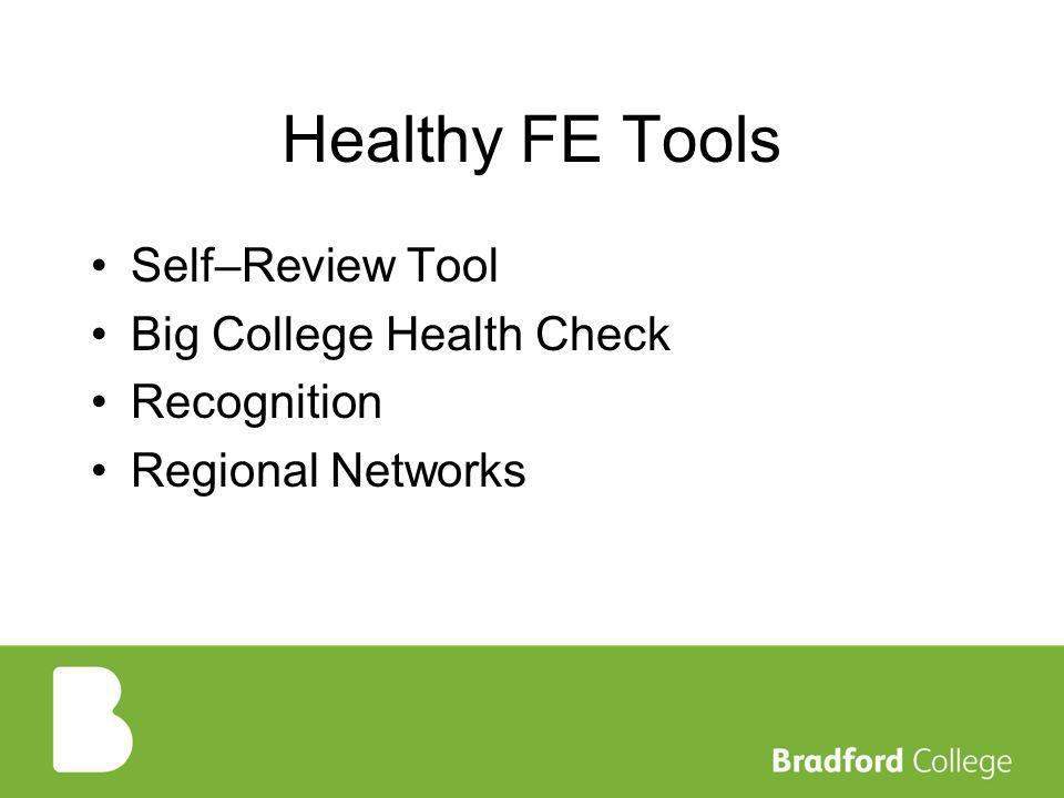 Healthy FE Tools Self–Review Tool Big College Health Check Recognition Regional Networks
