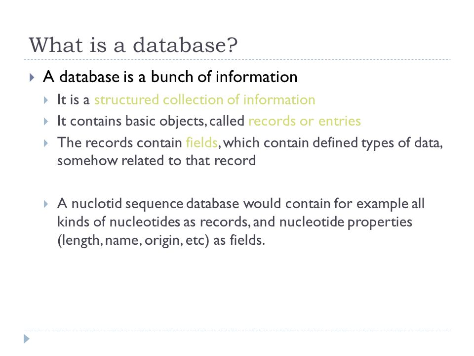 What is a database.