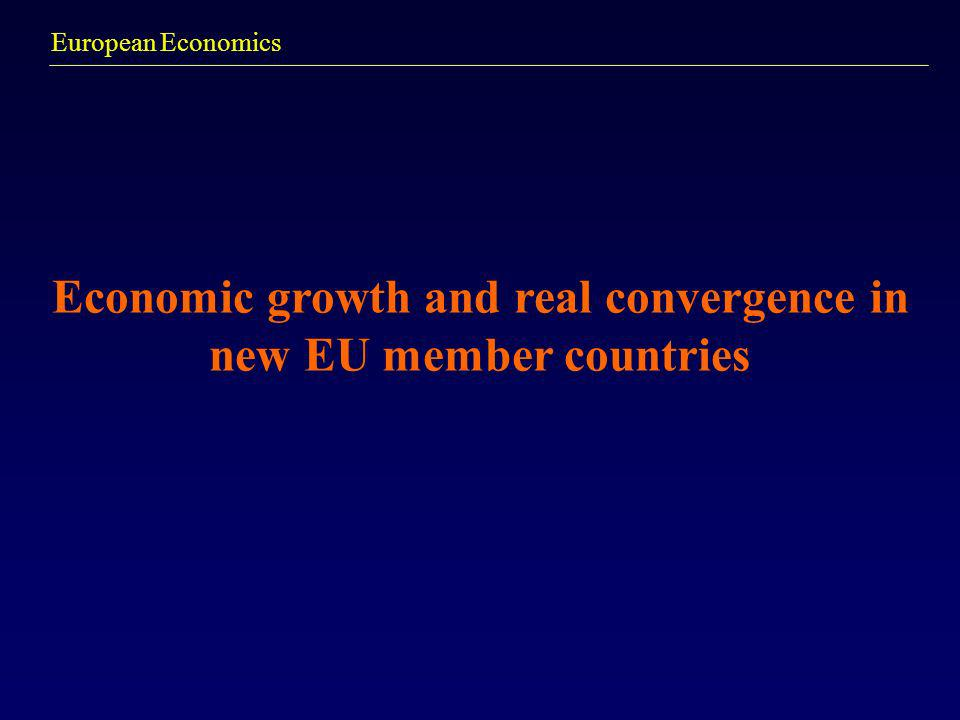Economic growth and real convergence in new EU member countries
