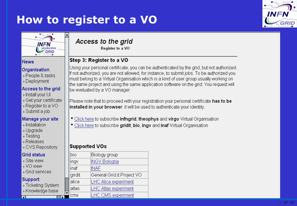 – n° 16 How to register to a VO