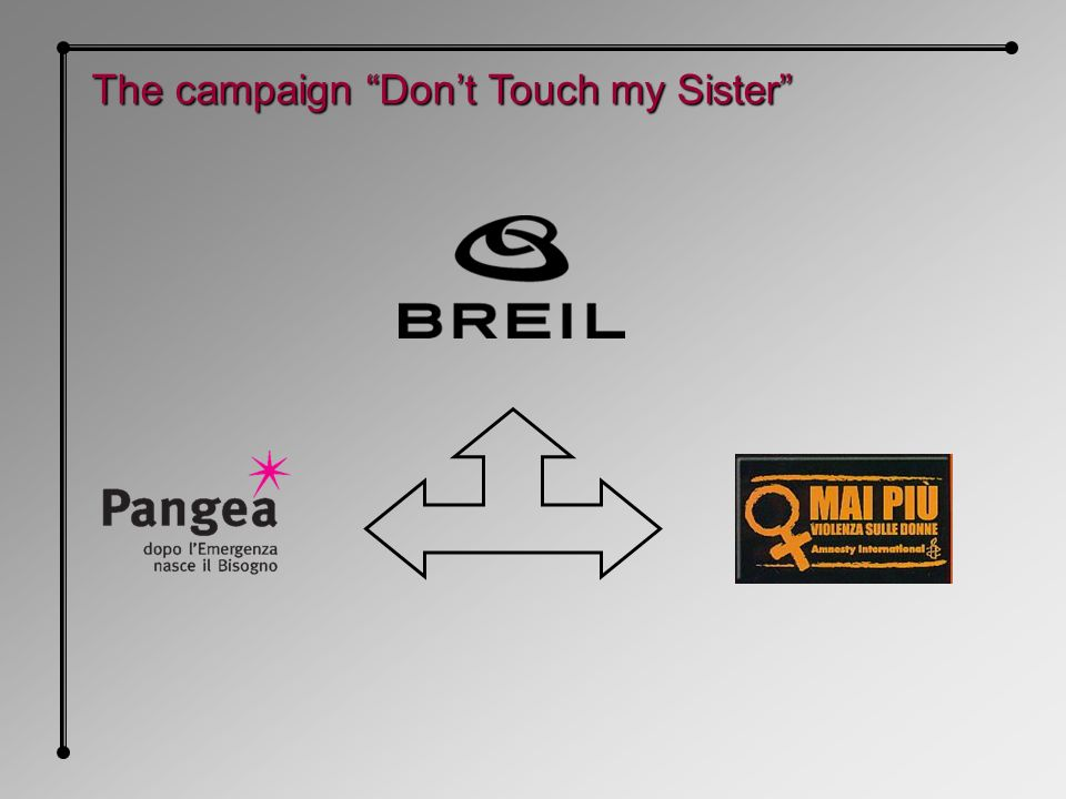 The campaign Dont Touch my Sister