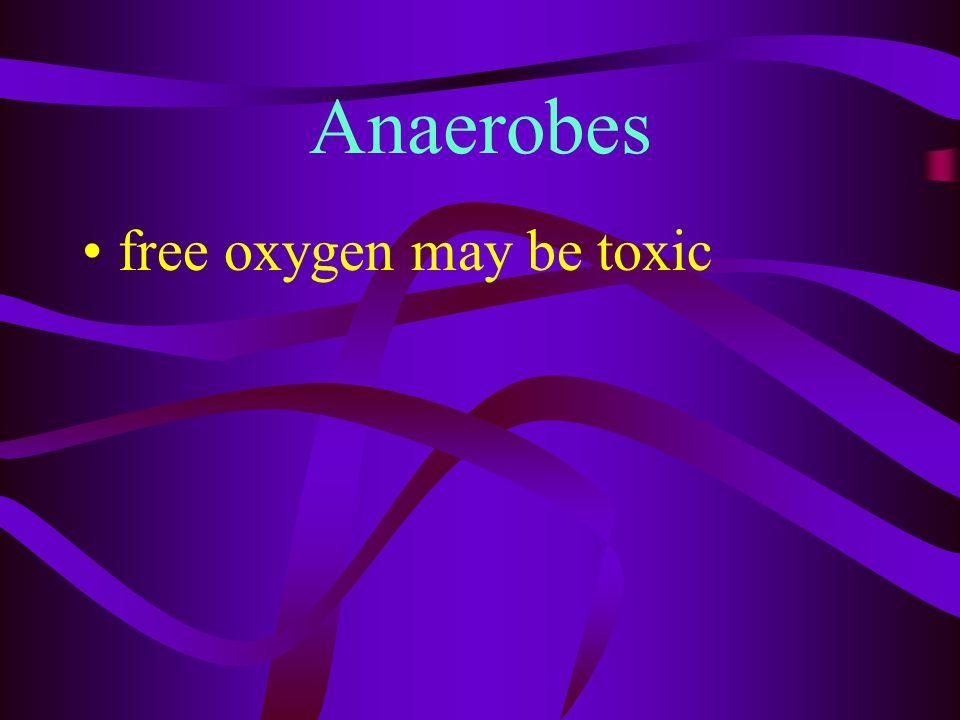 Anaerobes made up of molecules containing O2 but dont produce free or gaseous O2