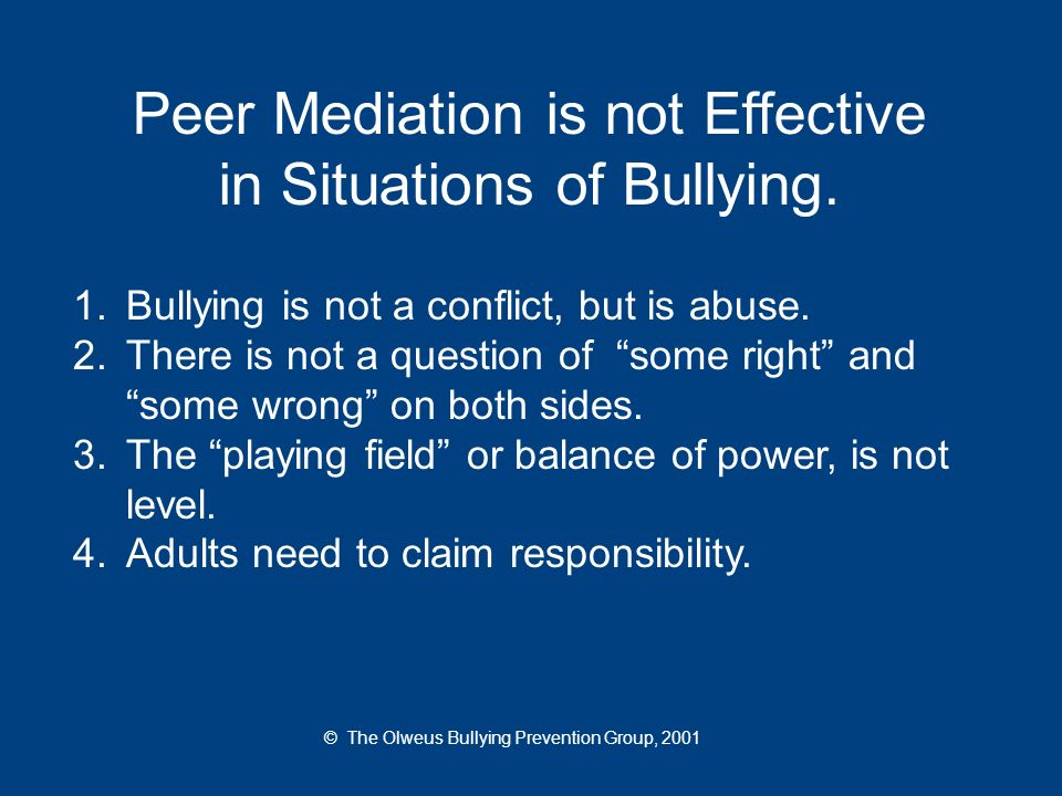 How far should things go before bullying behavior is addressed.