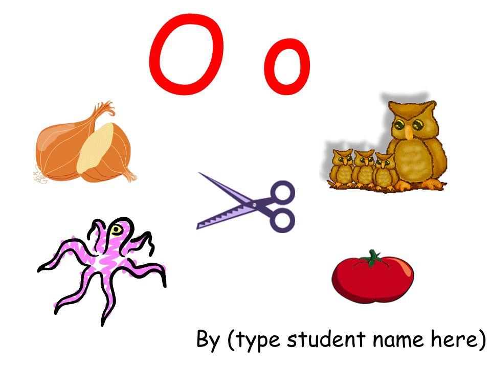 O o By (type student name here)