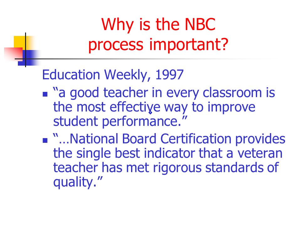 Why is the NBC process important.