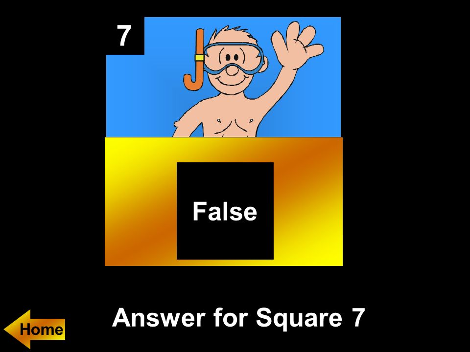 7 Answer for Square 7 False Home