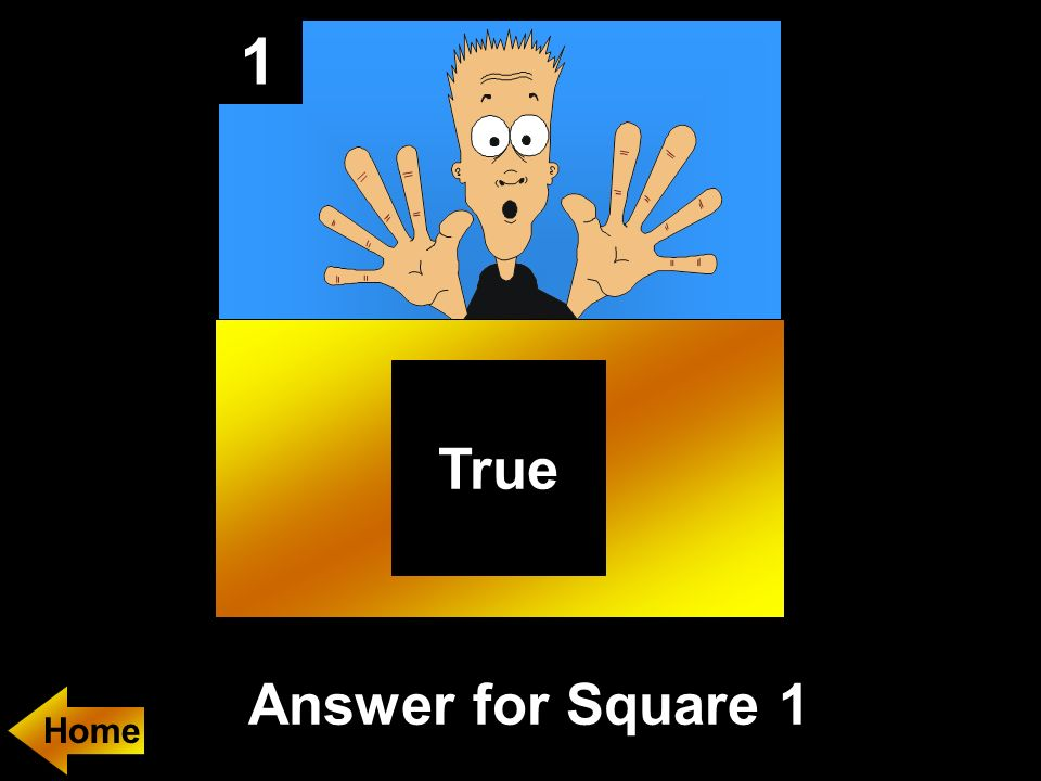 1 Answer for Square 1 Home True