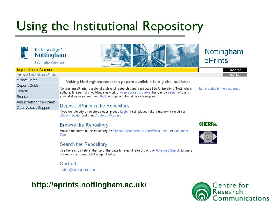 Using the Institutional Repository