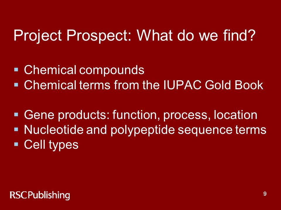 9 Project Prospect: What do we find.