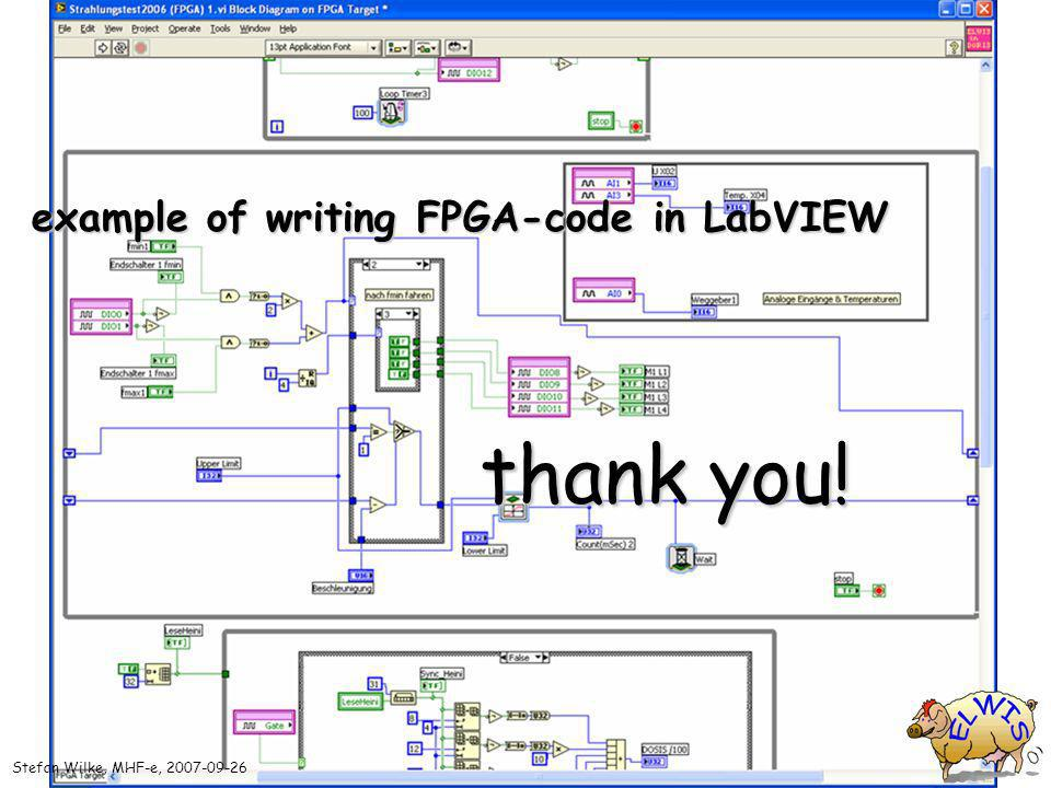 Stefan Wilke, MHF-e, example of writing FPGA-code in LabVIEW thank you!
