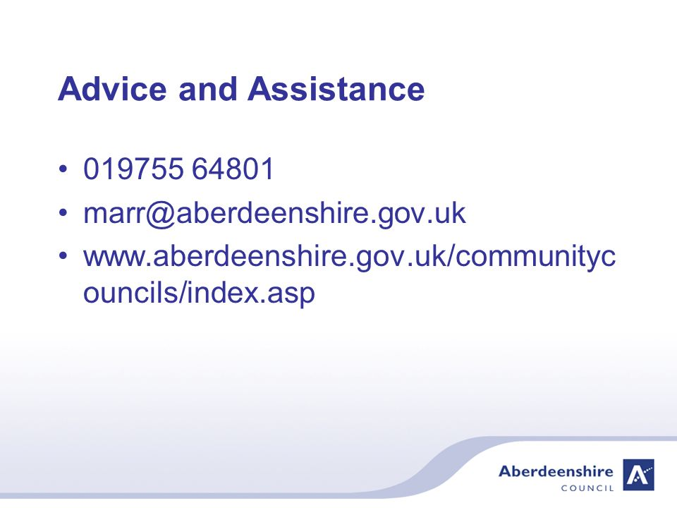 Advice and Assistance ouncils/index.asp