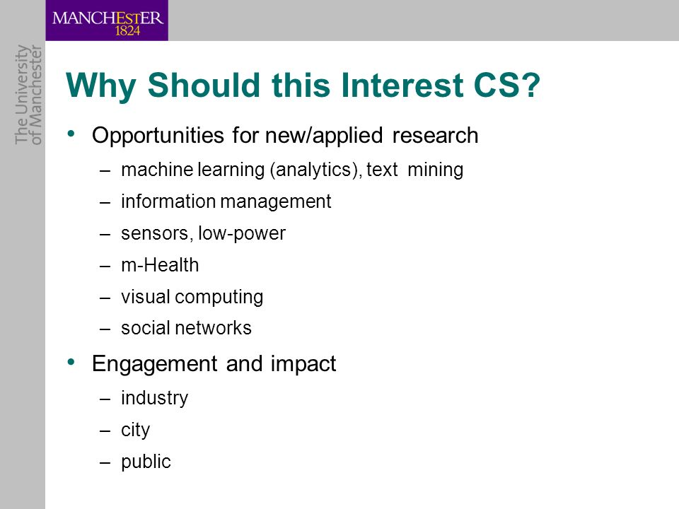 Why Should this Interest CS.