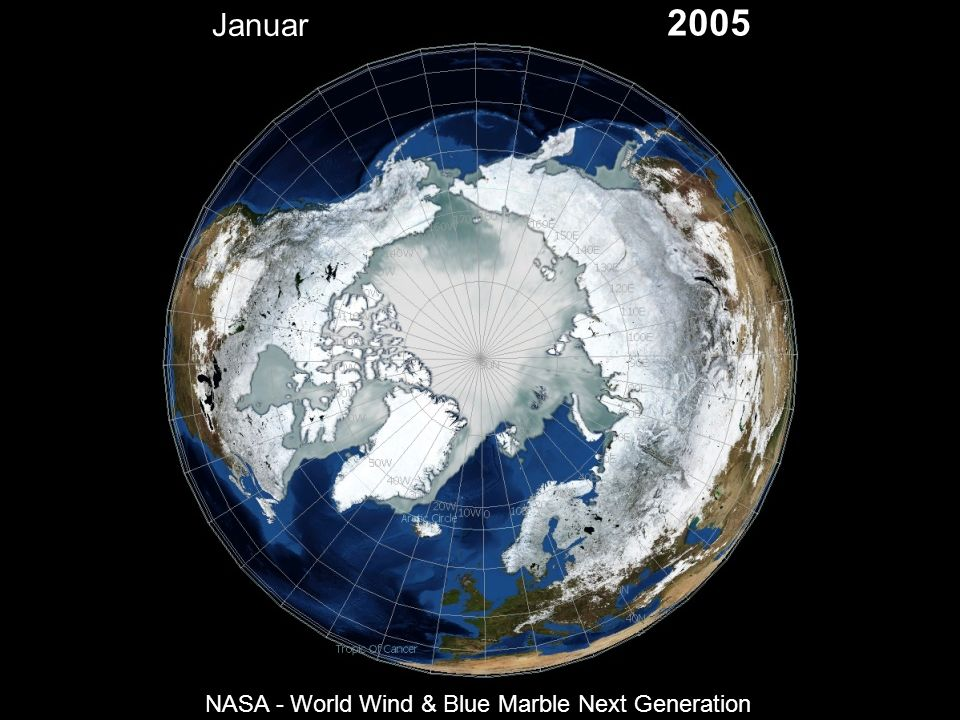 Januar 2005 NASA - World Wind & Blue Marble Next Generation