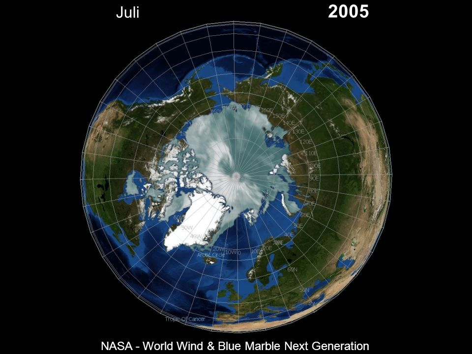 Juli 2005 NASA - World Wind & Blue Marble Next Generation