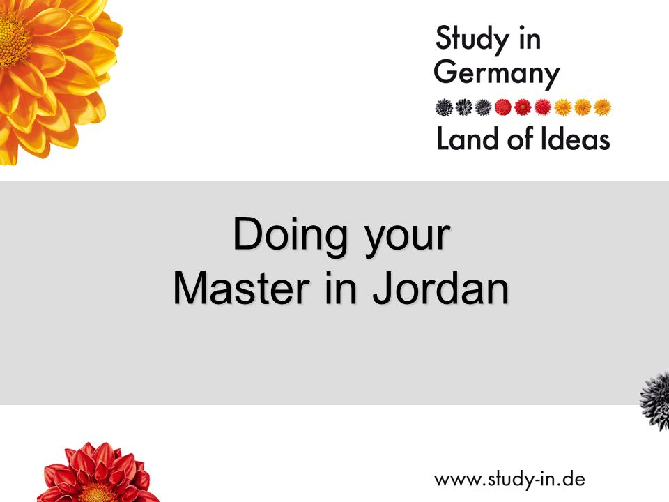 Doing your Master in Jordan