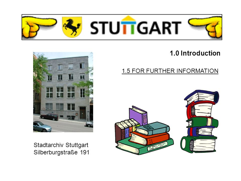 1.0 Introduction 1.4 URBAN HISTORY 1495 - 1803Stuttgart was the capital and the recidence city of the duchy 1803 - 1805Stuttgart was the main and residence city of the electorate 1806 - 1918Stuttgart was the main and residence city of the Kingdom of Wuerttemberg 1918 - 1945Stuttgart was the state capital of Wuerttemberg 1945 - 1977Stuttgart was the capital of Wuerttemberg-Baden since 1977Stuttgart is officially the capital of Baden-Wuerttemberg.