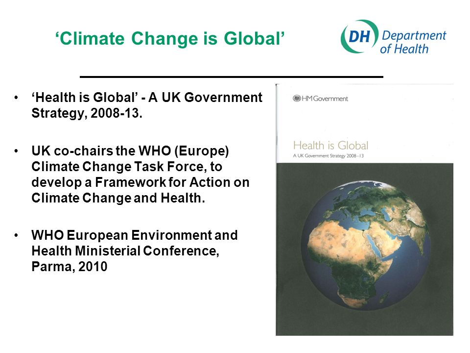 Health is Global - A UK Government Strategy,