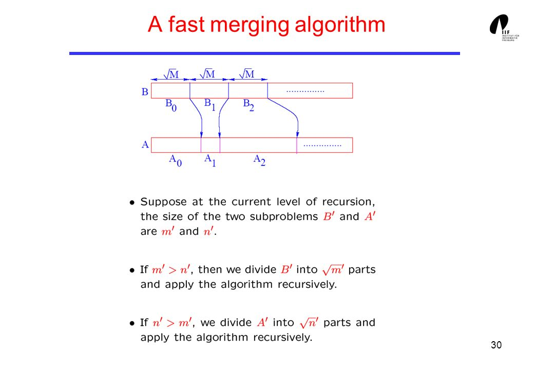 30 A fast merging algorithm