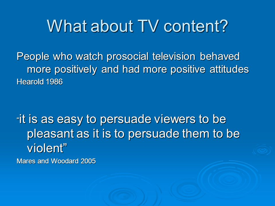 What about TV content.