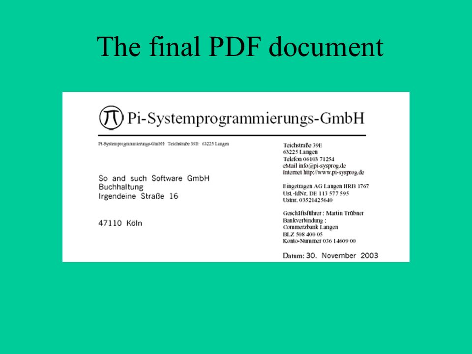 The final PDF document