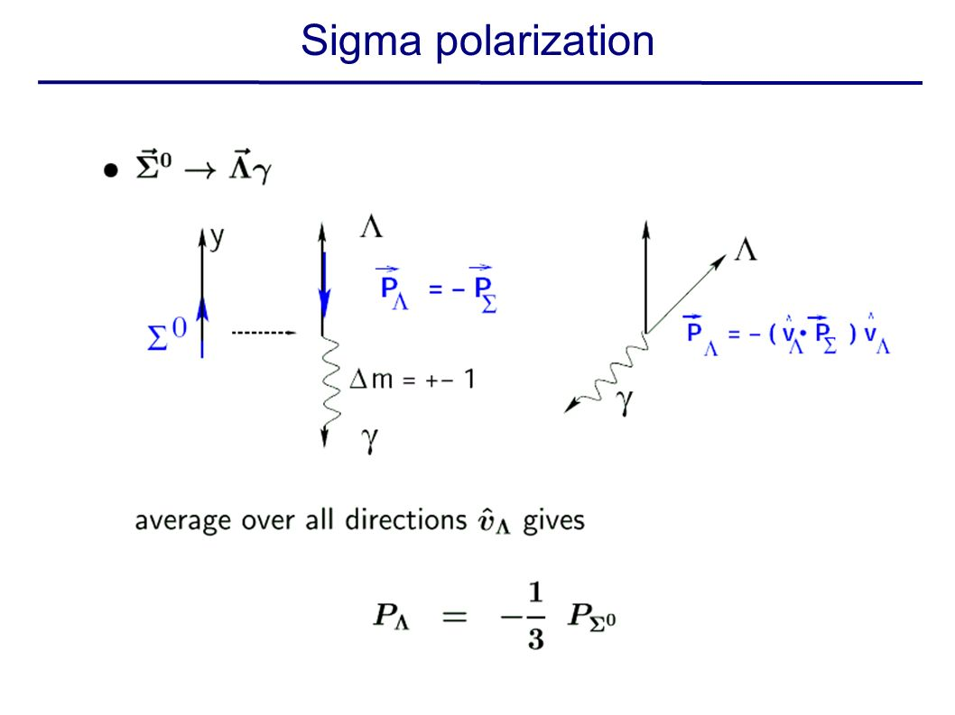 Sigma polarization