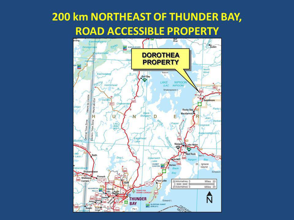 200 km NORTHEAST OF THUNDER BAY, ROAD ACCESSIBLE PROPERTY