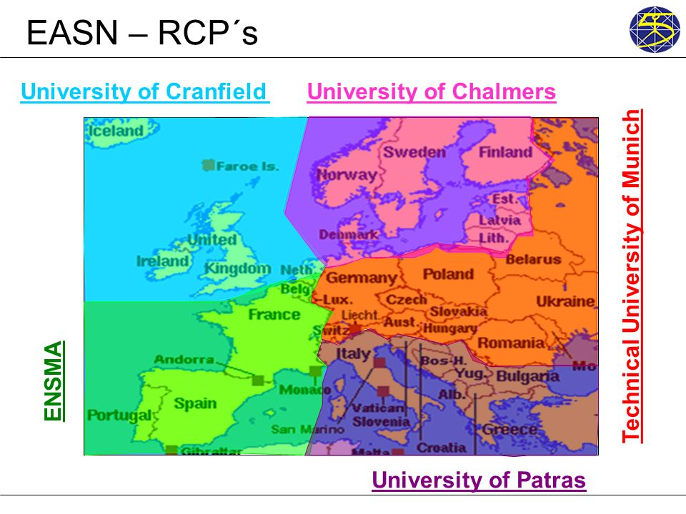 EASN – RCP´s University of Cranfield Technical University of Munich ENSMA University of Patras University of Chalmers