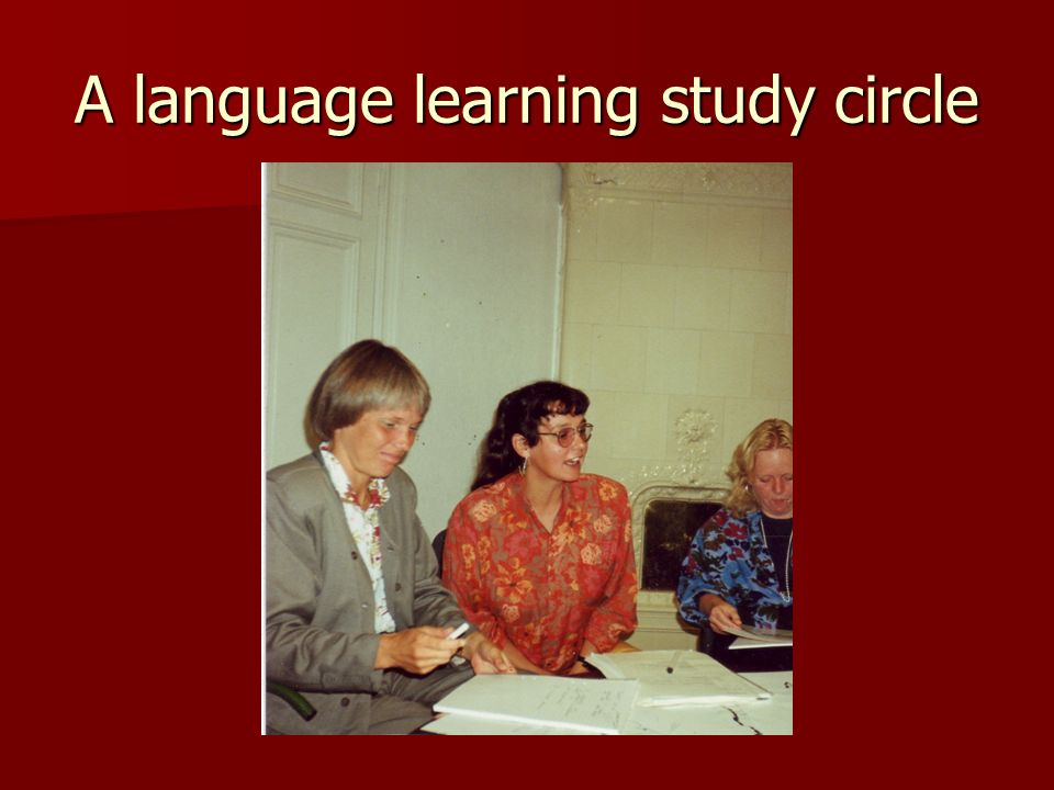 A language learning study circle