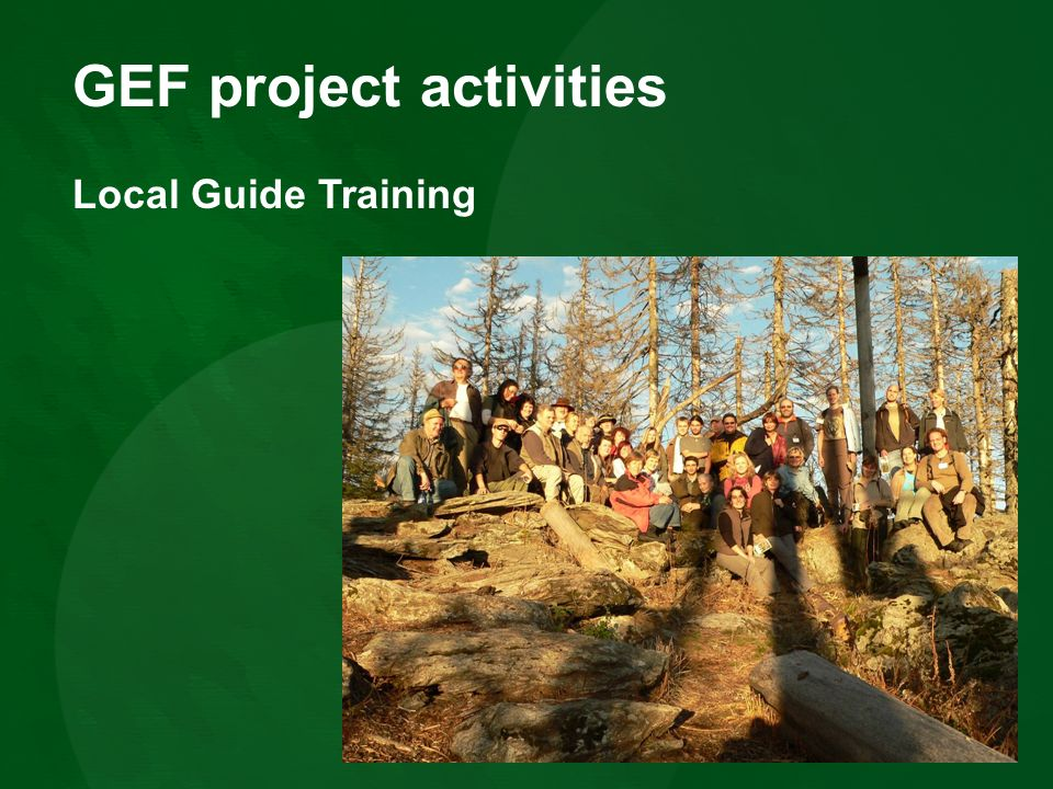 GEF project activities Local Guide Training