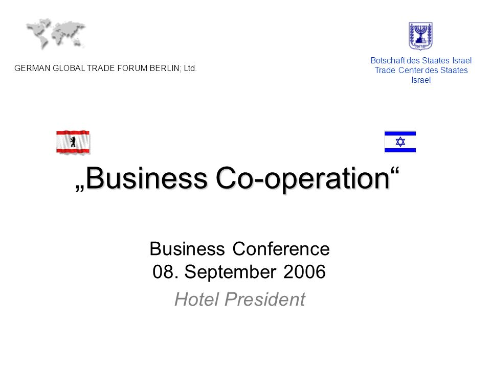 Business Co-operationBusiness Co-operation Business Conference 08.