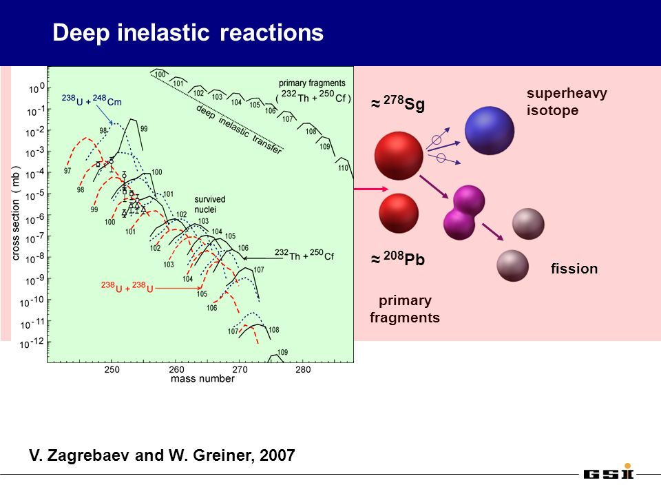 Deep inelastic reactions 238 U 248 Cm primary fragments superheavy isotope 208 Pb 278 Sg fission V.