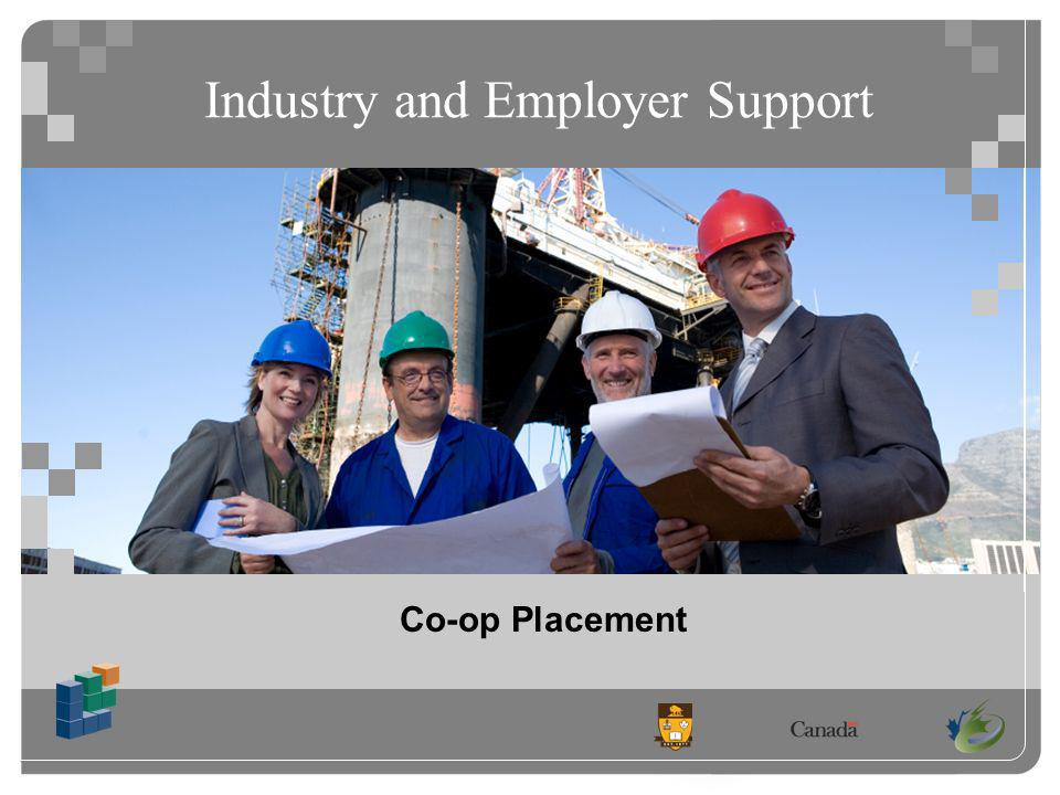 Industry and Employer Support Co-op Placement