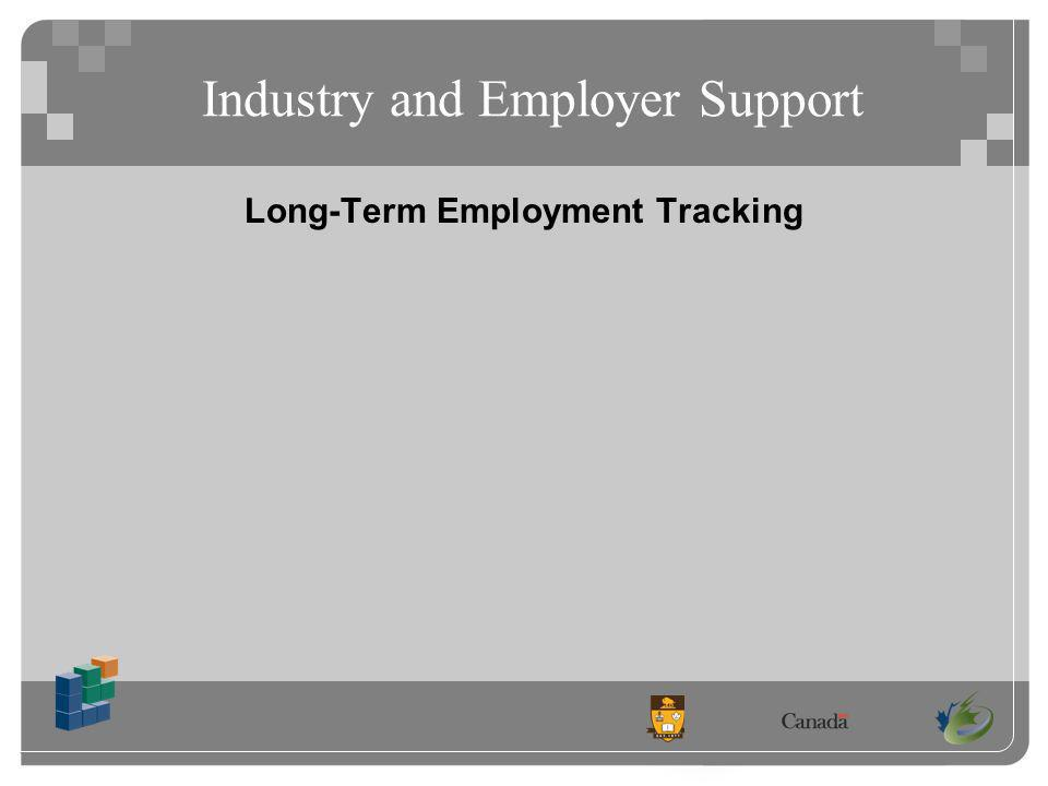 Industry and Employer Support Long-Term Employment Tracking