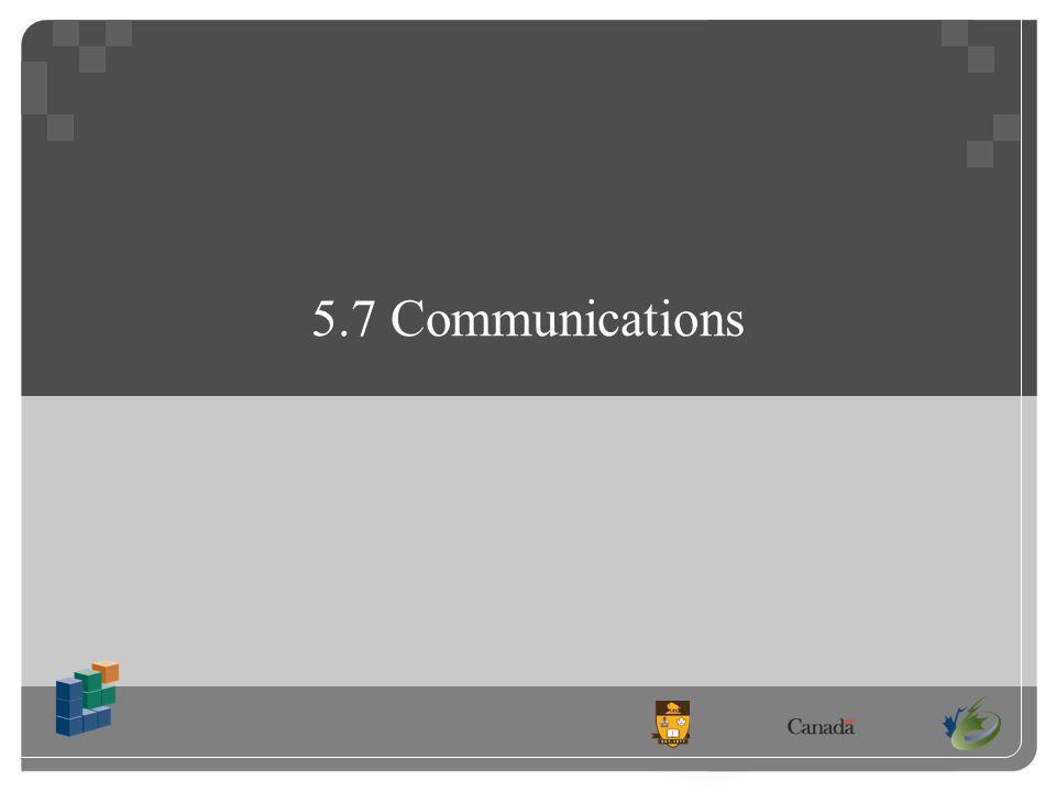 5.7 Communications