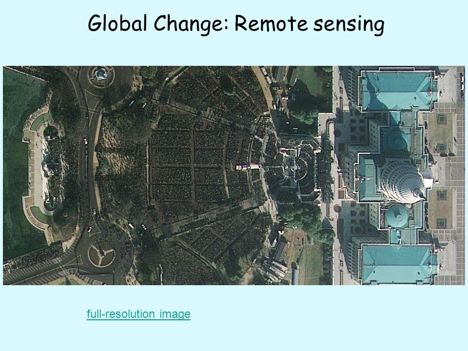 Global Change: Remote sensing full-resolution image