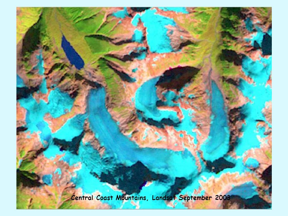 Central Coast Mountains, Landsat September 2003