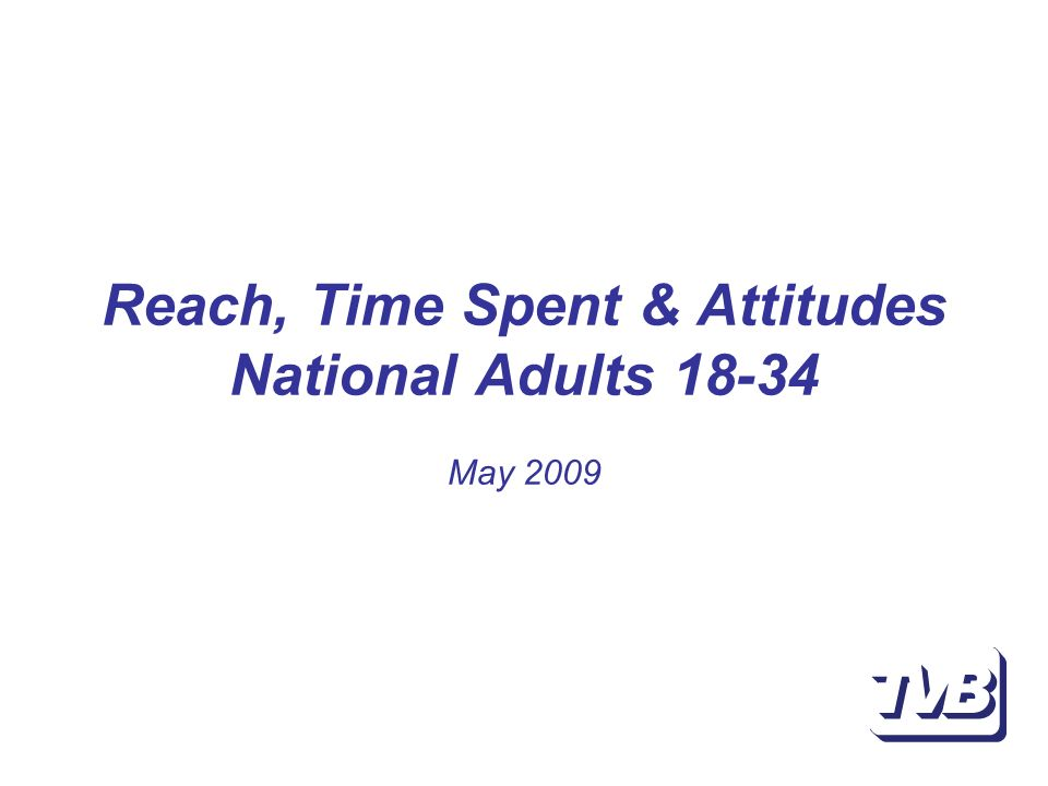Reach, Time Spent & Attitudes National Adults May 2009