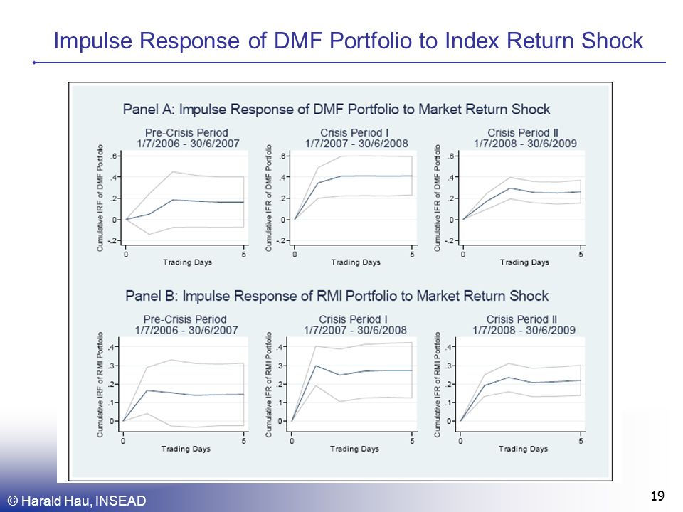 Impulse Response of DMF Portfolio to Index Return Shock © Harald Hau, INSEAD 19