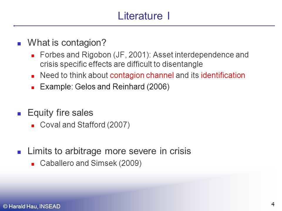 Literature I What is contagion.