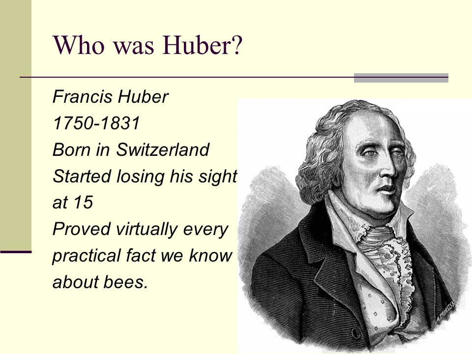 Who was Huber.