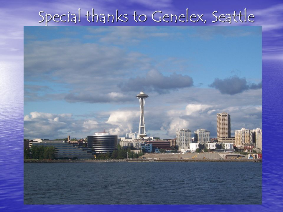 Special thanks to Genelex, Seattle