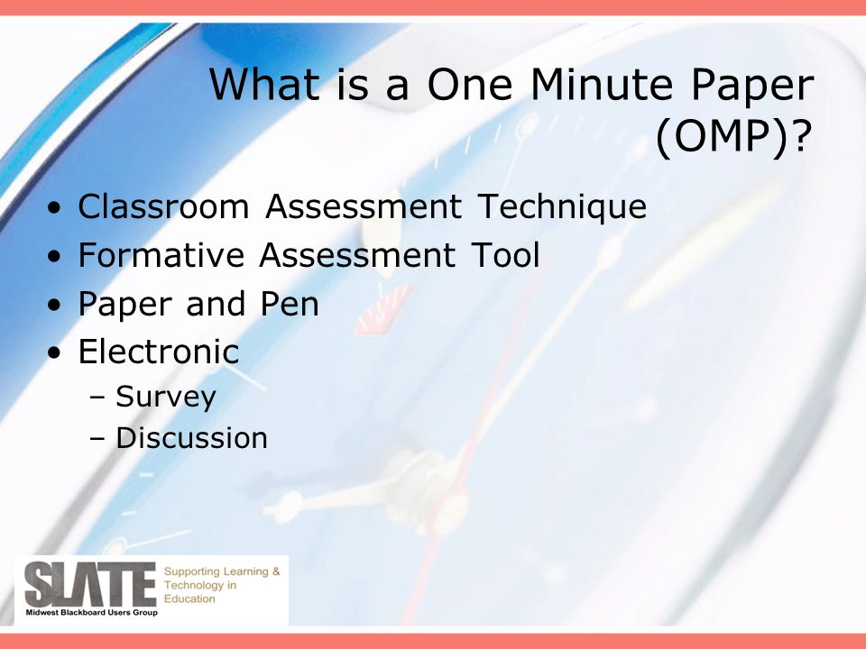 What is a One Minute Paper (OMP).